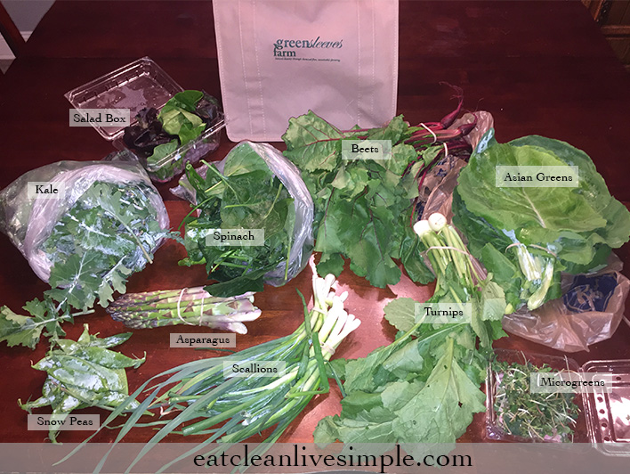 CSA Share Week One - www.eatcleanlivesimple.com