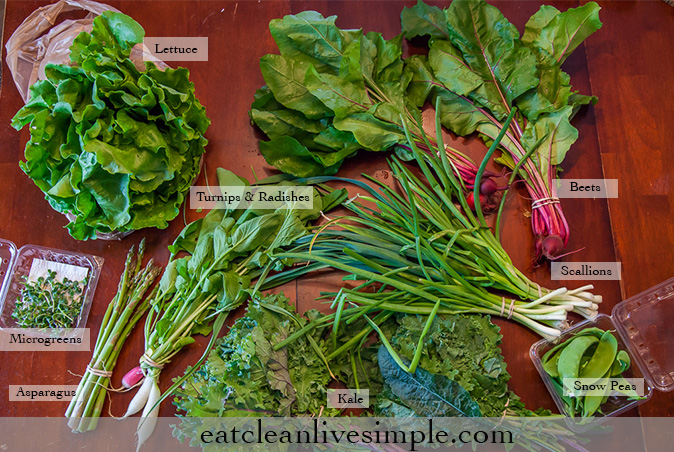 CSA Share Week Three - www.eatcleanlivesimple.com