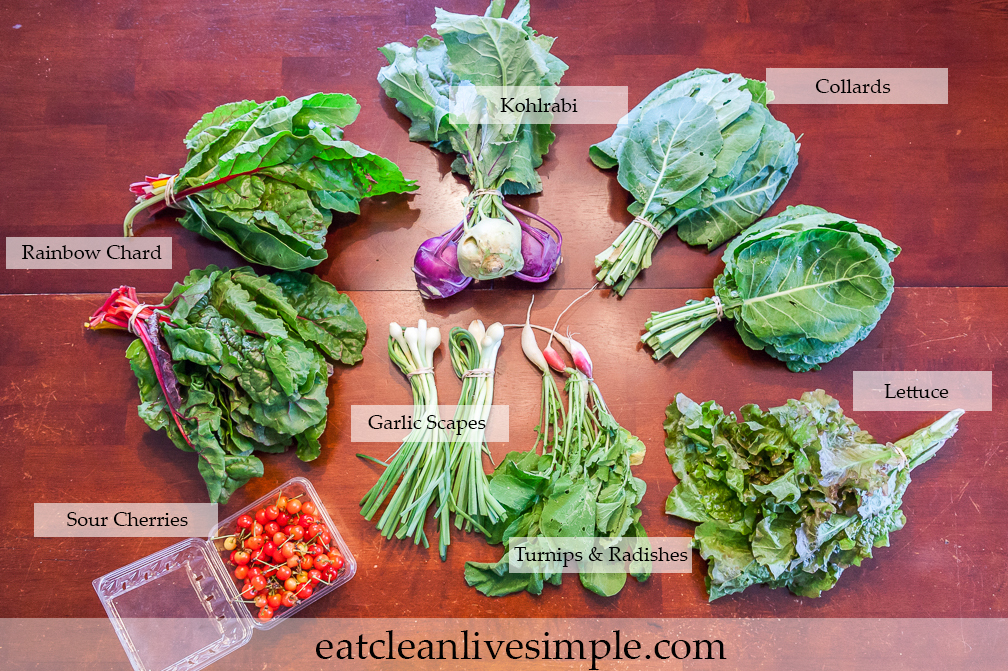 CSA Share Week Five -  www.eatcleanlivesimple.com