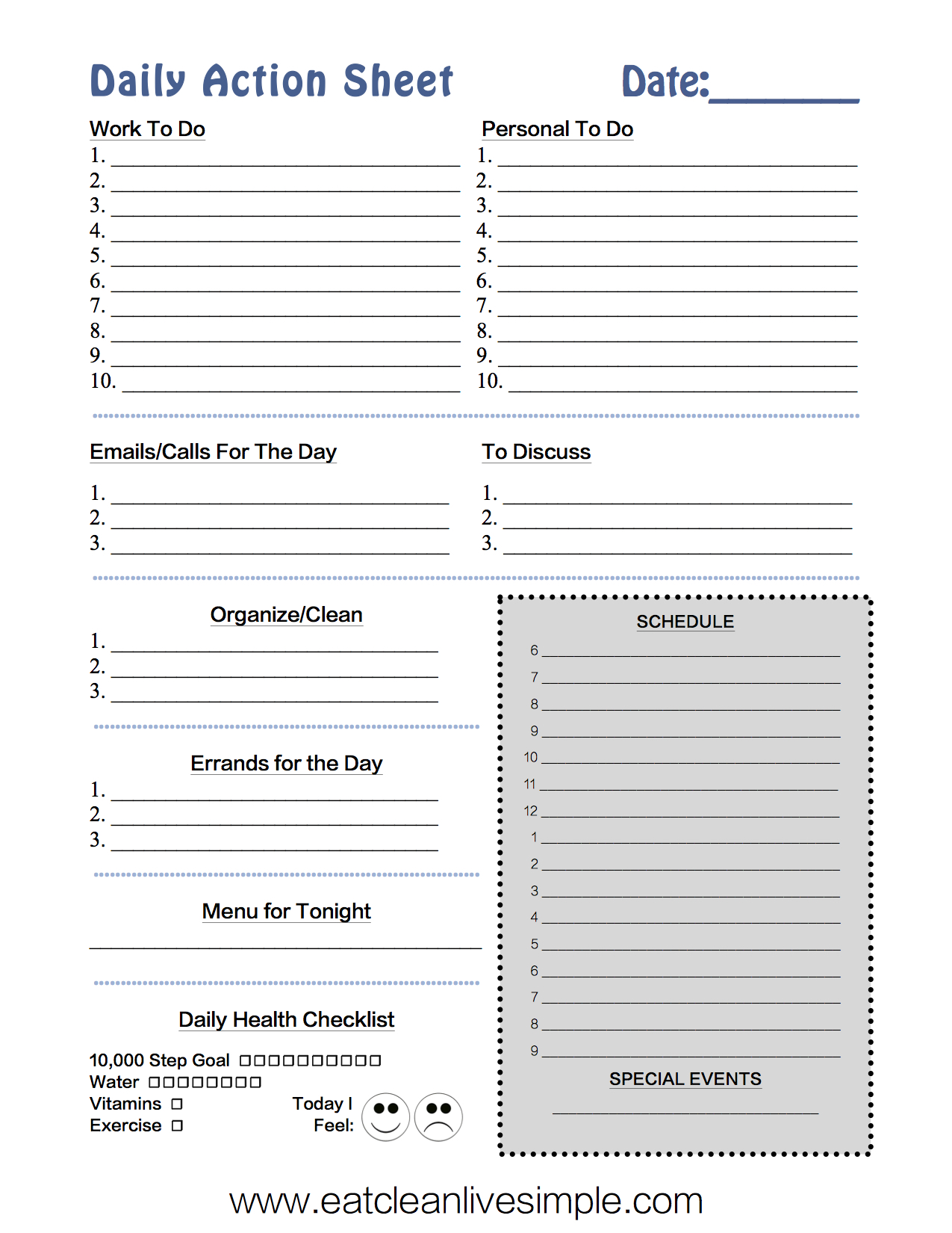 How to Keep You Day Organized - www.eatcleanlivesimple.com