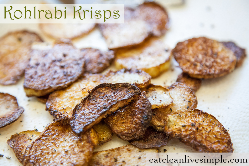 Kohlrabi Krisps - www.eatcleanlivesimple.com