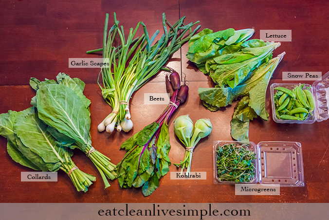 CSA Share Week Six...Seven...Eight - www.eatcleanlivesimple.com