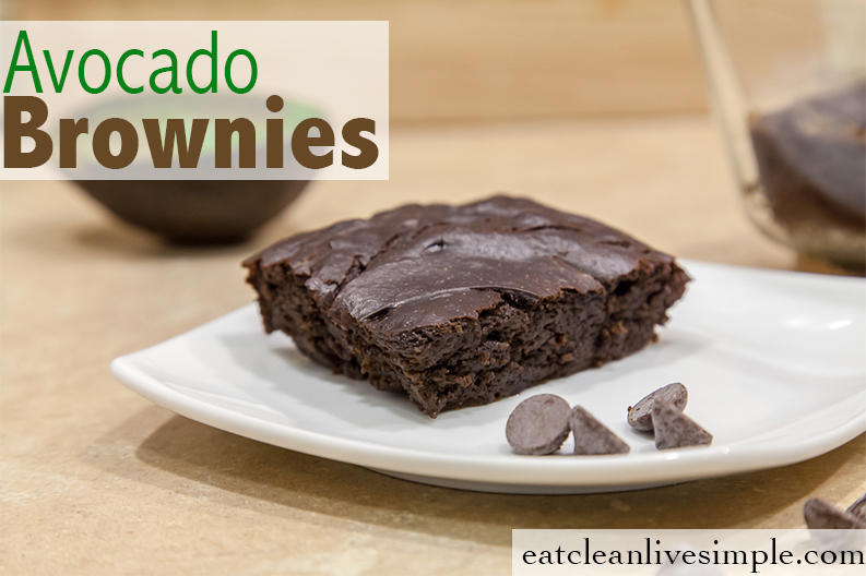 Avocado Brownies www.eatcleanlivesimple.com