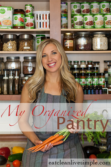 My Organized Pantry - www.eatcleanlivesimple.com