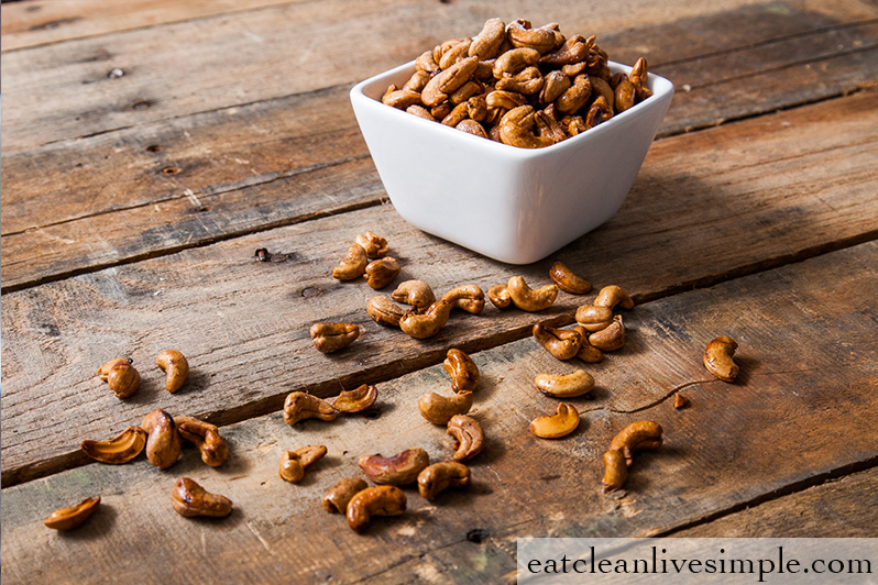 Oven Roasted Cashews - www.eatcleanlivesimple.com
